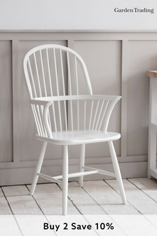 Spindle Armchair in Lily White By Garden Trading