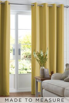 Cotton Ochre Yellow Made To Measure Curtains