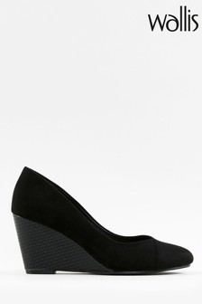 Wallis Companion Black Wedge Court Shoes