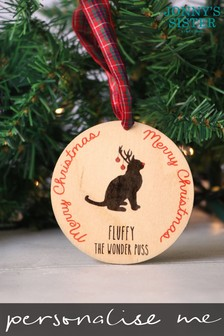 Personalised Cat Bauble by Jonnys Sister
