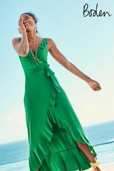 Boden Green Nora Jersey Maxi Dress