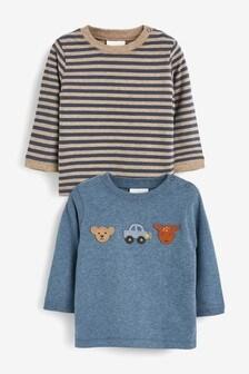 2 Pack Crochet Character T-Shirts (0mths-2yrs)
