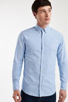 BOSS Blue Mabsoot Oxford Logo Shirt