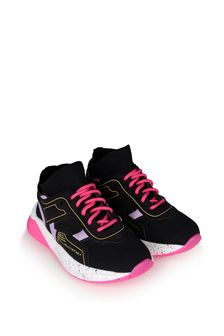 Girls Black Colourblock Trainers