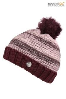 Regatta Purple Frosty Pom Pom Hat
