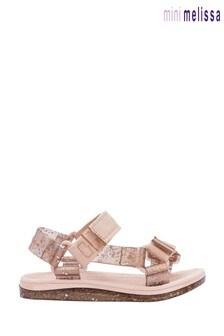 Mini Melissa Blush Glitter Trekky Sandals