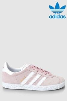 נעליים מסדרת Originals של adidas, דגם Gazelle Youth בצבע ורוד
