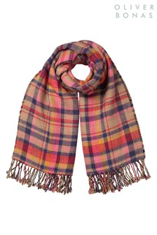 Oliver Bonas Heritage Check Multi Midweight Scarf