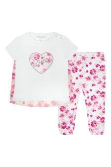 Baby Girls White Cotton Set