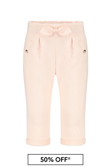 Girls Pink Cotton Trousers