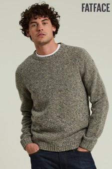 FatFace Brown Bramley Nep Crew Sweater