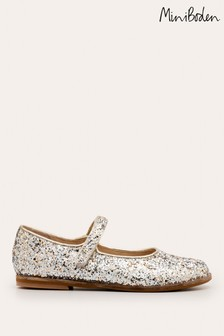Boden Metallic Party Mary Janes