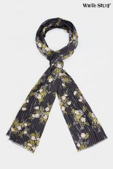White Stuff Natural Sparkle Floral Print Scarf