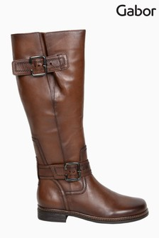 Gabor Nevada Sattel Leather Knee Length Fashion Boots