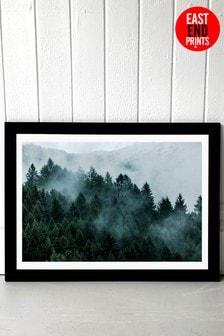 Foggy Hills Print by East End Prints