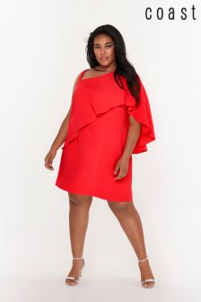 Coast Curve Pink Caggie Overlay Shift Dress