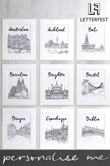Personalised Favourite City Framed Print by Letterfest