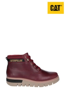 CAT® Lifestyle Red Pastime Wedge Lace-Up Boots
