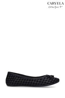 Carvela Comfort Luggage Black Shoes