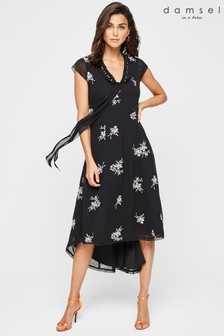 Damsel In A Dress Black Mirna Embroidered Beaded Dress