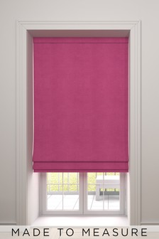 Soft Velour Fuchsia Pink Made To Measure Roman Blind