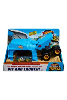 Hot Wheels Monster Trucks Pit And Launch