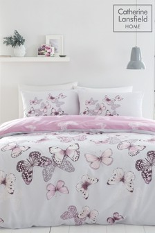 Scatter Butterfly Duvet Cover and Pillowcase Set by Catherine Lansfield