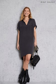 Mint Velvet Grey Easy Shirt Dress