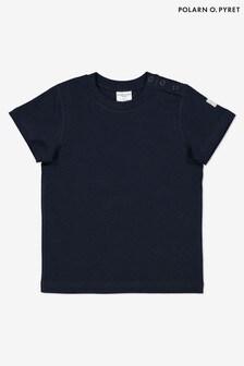 Polarn O. Pyret Blue GOTS Organic T-Shirt
