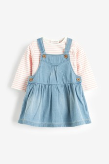 Pinafore Dress And Bodysuit Set (0mths-2yrs)