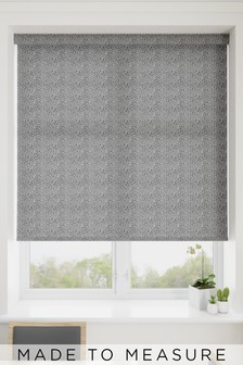 Squiggle Ash Grey Made To Measure Roller Blind