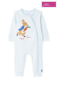 Joules Blue Peter Rabbit Winfield Cotton Artwork Babygrow