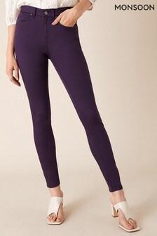 Monsoon Purple Nadine Organic Cotton Regular Denim Jeans