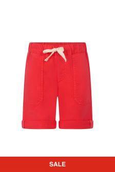 Bonpoint Boys Red Cotton Shorts