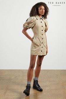 Ted Baker Tildare Needlecord Mini Shirt Dress