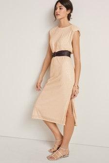 Sequin Column Dress