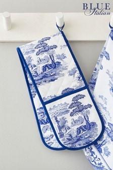 Pimpernel Blue Italian Double Oven Glove