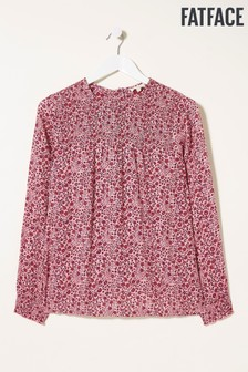 FatFace Pink Ellen Berry Woodblock Blouse