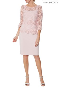 Gina Bacconi Pink Kehlani Dress And Overtop