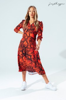 Hype. Womens Red Snake Dress