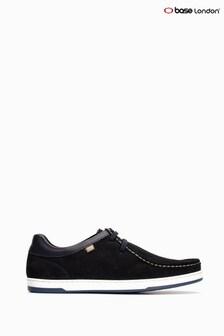 Base London® Blue Dougie Suede Lace-Up Wallabee Shoes