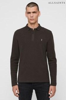 AllSaints Grey Muse Long Sleeve Polo