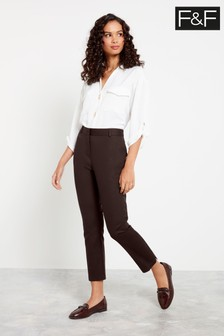 F&F Chocolate Slim Trousers