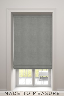 Soft Velour Silver Made To Measure Roman Blind