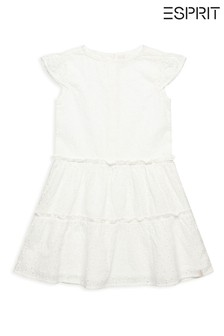 Esprit White Broderie Anglaise Dress