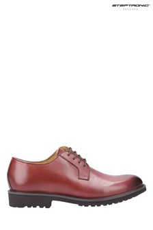 Steptronic Red Ilford Lace-Up Derby Shoes