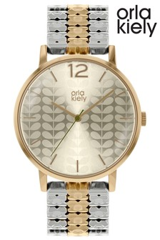 Orla Kiely Ladies Two Tone Bracelet Watch