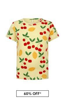 Mini Rodini Girls Yellow Cotton T-Shirt