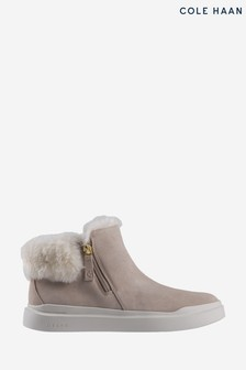 Cole Haan Grey GrandPro Rally Booties