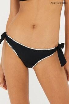 Accessorize Black Lukshana Bikini Briefs